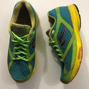 Newton Gravity Blue Green Running Shoes Sports 9